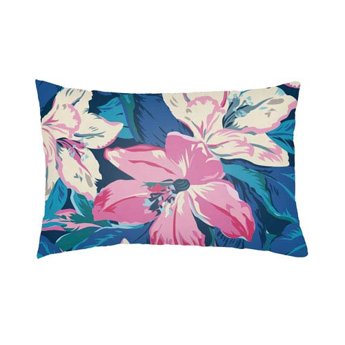 Artistic Weavers Lolita Zinnia Royal Blue and Fuchsia 16 x 16 In. Pillow with Poly Fill