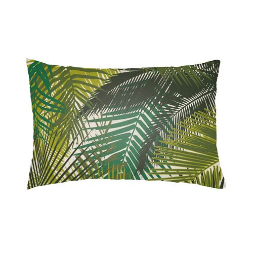 Artistic Weavers Lolita Palm Lime Green and Olive Green 14 x 24 In. Pillow with Poly Fill