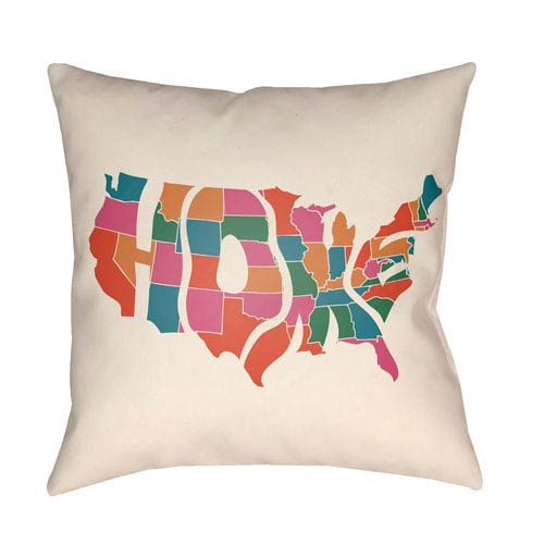 Artistic Weavers Lolita Home Poppy Red and Hot Pink 14 x 24 In. Pillow with Poly Fill