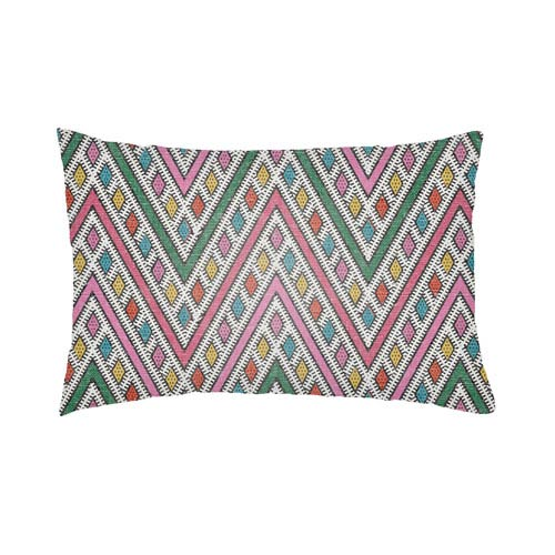 Artistic Weavers Lolita Leilani Hot Pink and Fuchsia 16 x 16 In. Pillow with Poly Fill
