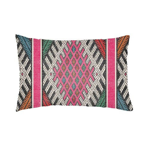 Artistic Weavers Lolita Pratt Hot Pink and Teal 26 x 26 In. Pillow with Poly Fill