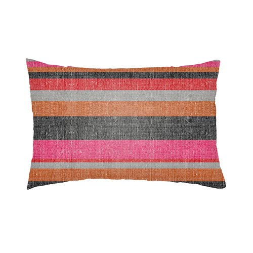 Lolita Lilac Hot Pink and Poppy Red 22 x 22 In. Pillow with Poly Fill