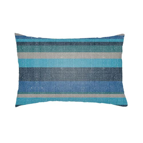 Artistic Weavers Lolita Lilac Navy Blue and Royal Blue 18 x 18 In. Pillow with Poly Fill