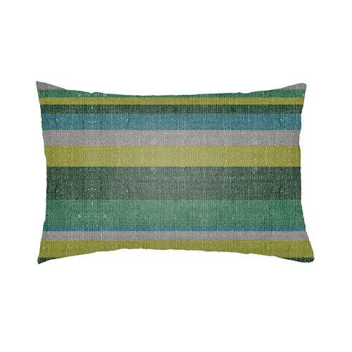 Artistic Weavers Lolita Lilac Kelly Green and Forest Green 14 x 24 In. Pillow with Poly Fill
