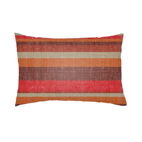 Artistic Weavers Lolita Lilac Poppy Red and Burgundy 14 x 24 In. Pillow with Poly Fill