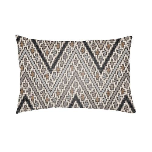 Artistic Weavers Lolita Leilani Gray and Light Gray 26 x 26 In. Pillow with Poly Fill