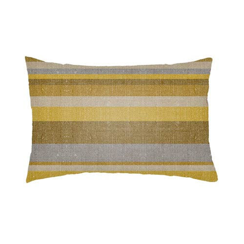 Lolita Lilac Gold and Bright Yellow 26 x 26 In. Pillow with Poly Fill