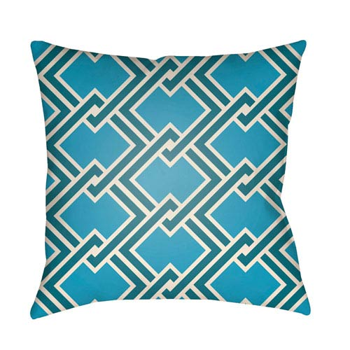 Artistic Weavers Litchfield Cabana Aqua and Teal 20 x 20 In. Pillow with Poly Fill