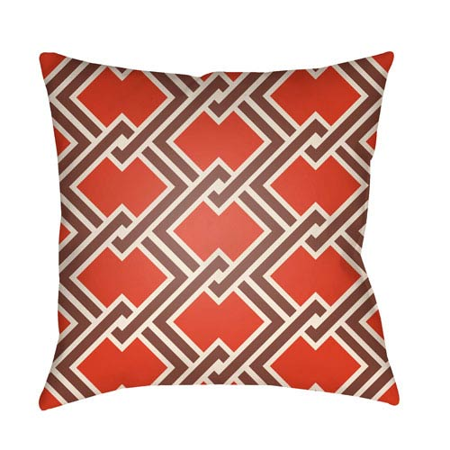 Artistic Weavers Litchfield Cabana Poppy Red and Burgundy 22 x 22 In. Pillow with Poly Fill