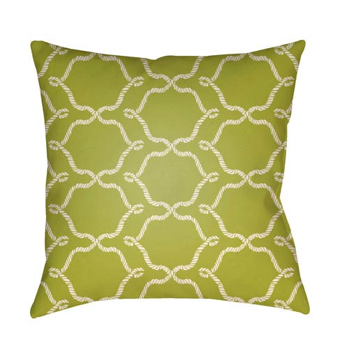Artistic Weavers Litchfield Conway Lime Green and Ivory 16 x 16 In. Pillow with Poly Fill