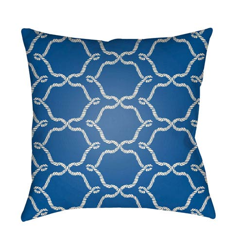 Artistic Weavers Litchfield Conway Royal Blue and Ivory 20 x 20 In. Pillow with Poly Fill