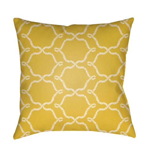 Artistic Weavers Litchfield Conway Bright Yellow and Ivory 26 x 26 In. Pillow with Poly Fill