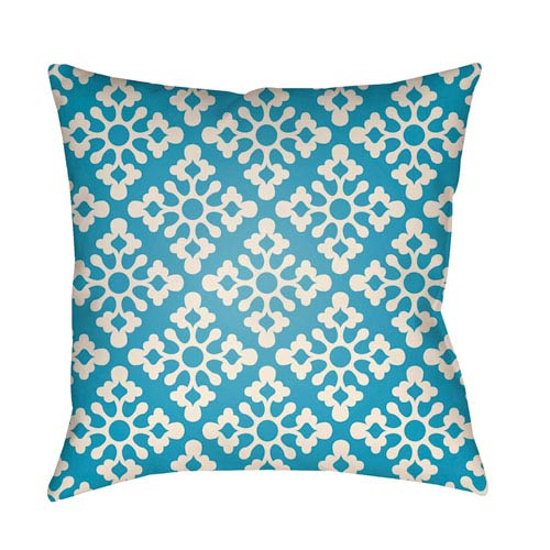 Artistic Weavers Litchfield Ladson Aqua and Ivory 20 x 20 In. Pillow with Poly Fill