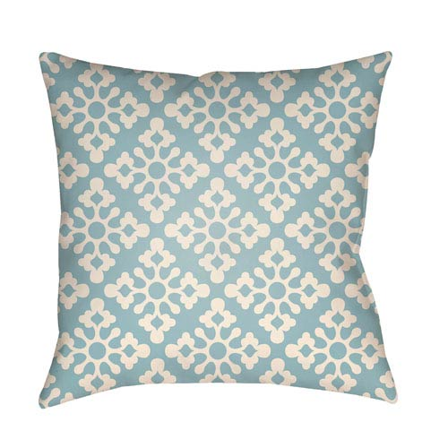 Artistic Weavers Litchfield Ladson Light Blue and Ivory 26 x 26 In. Pillow with Poly Fill