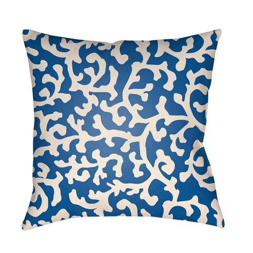 Artistic Weavers Litchfield Lumberton Royal Blue and Ivory 18 x 18 In. Pillow with Poly Fill