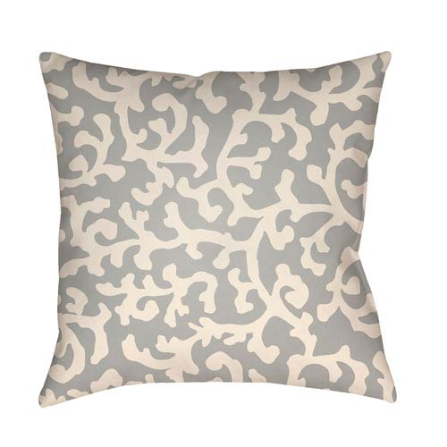 Litchfield Lumberton Gray and Ivory 26 x 26 In. Pillow with Poly Fill