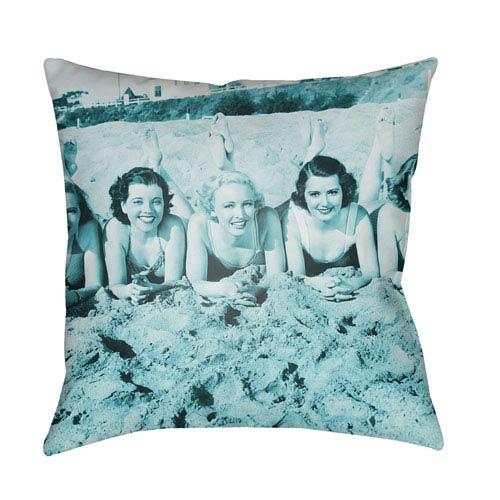 Artistic Weavers Litchfield Sandy Teal 20 x 20 In. Pillow with Poly Fill