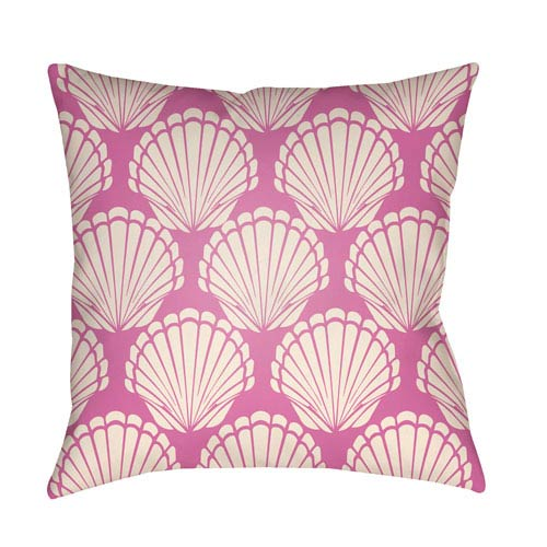 Artistic Weavers Litchfield Shell Fuchsia and Ivory 16 x 16 In. Pillow with Poly Fill