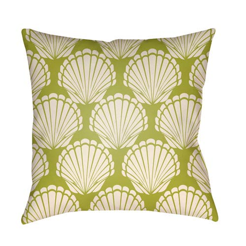 Artistic Weavers Litchfield Shell Lime Green and Ivory 20 x 20 In. Pillow with Poly Fill