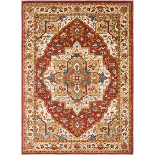 Artistic Weavers Nicea Rufus Crimson Red and Teal Rectangular: 2 Ft. x 3 Ft. Rug