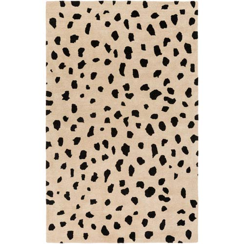 Stella Dalmation Beige and Black Rectangular: 8 Ft. x 10 Ft. Rug