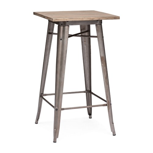Titus Stainless Steel Bar Table