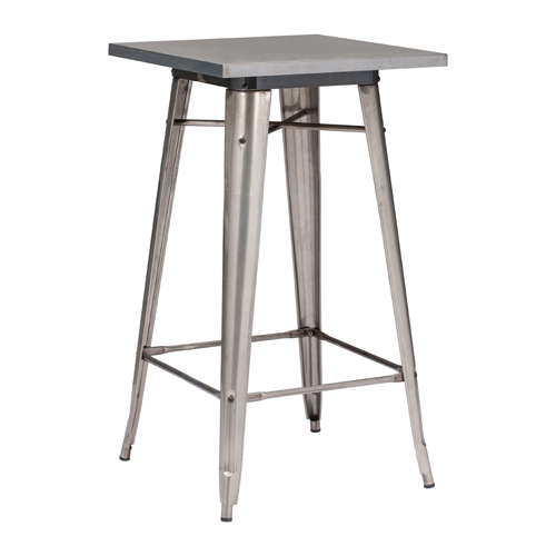 Zuo Modern Contemporary Olympia Stainless Steel Bar Table