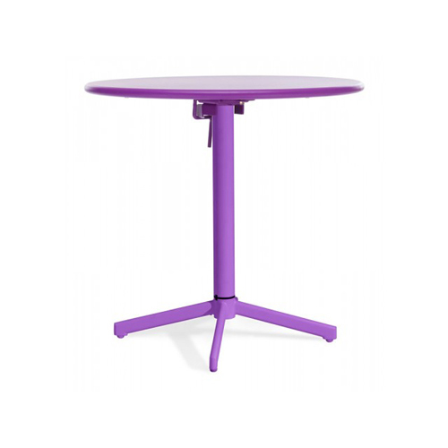 Big Wave Purple 29.5-Inch Outdoor Folding Round Table
