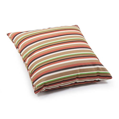 Zuo Modern Contemporary Hamster Brown Base Multistripe Large Pillow