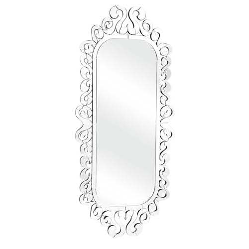 Zuo Modern Contemporary Shiva Clear Arched and Crowned Mirror