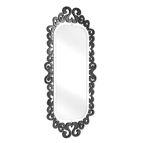 Zuo Modern Contemporary Shiva Black Arched and Crowned Mirror