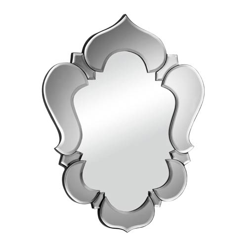 Zuo Modern Contemporary Vishnu Gray Arched and Crowned Mirror