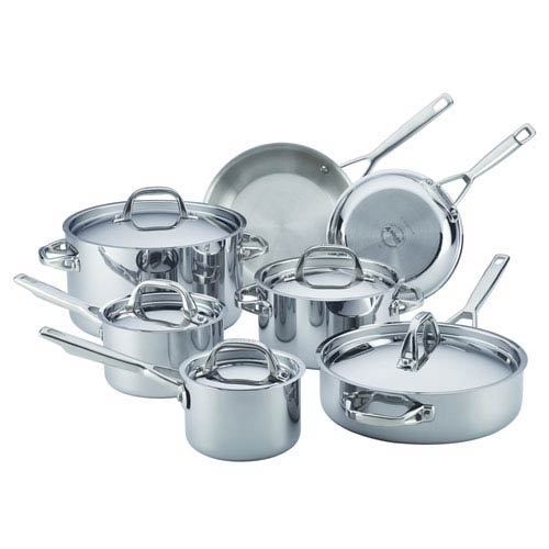 Tri-Ply Clad Stainless Steel 12-Piece Set