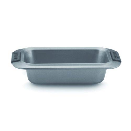 Advanced Nonstick, Gray 9-Inch x 5-Inch Loaf Pan with Silicone Grips