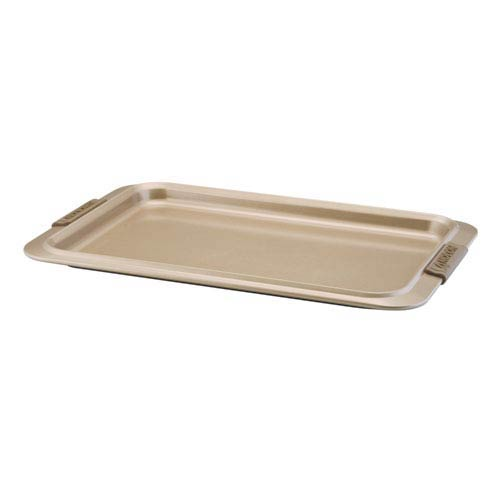 Advanced Bronze Nonstick, 10-Inch x 15-Inch Cookie Pan with Silicone Grips