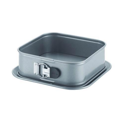Advanced Nonstick, Gray 9-Inch Square Springform Dessert Pan with Silicone Grip