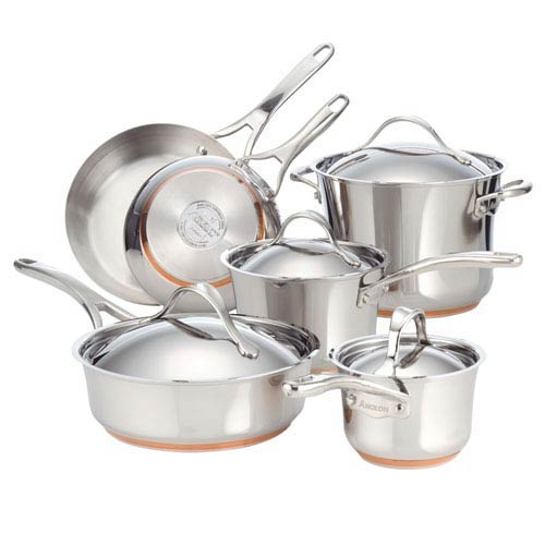 Nouvelle Copper Stainless Steel 10-Piece Cookware Set
