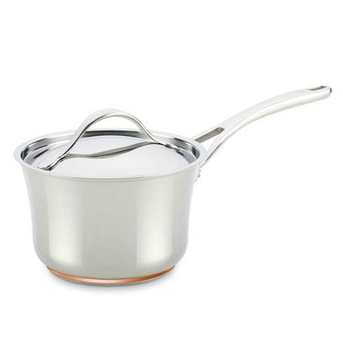 Nouvelle Copper Stainless Steel 3.5-Quart Covered Saucepan