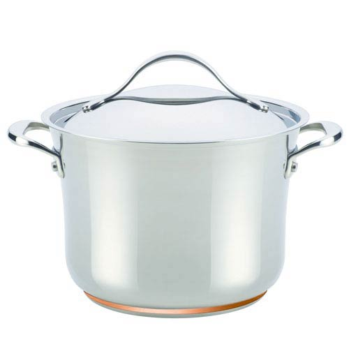 Nouvelle Copper Stainless Steel, 6-1/2-Quart Covered Stockpot