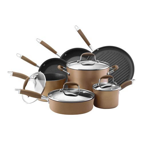 Advanced Bronze Hard-Anodized Nonstick, 11-Piece Set