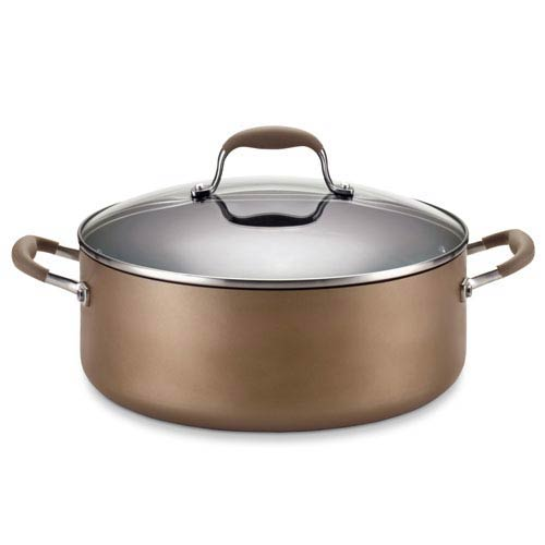 Anolon Advanced Bronze Hard-Anodized Nonstick, 7-1/2-Quart Covered Wide Stockpot