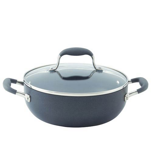 Advanced Hard-Anodized Nonstick, Gray 3-1/2-Quart Covered Chef's Casserole