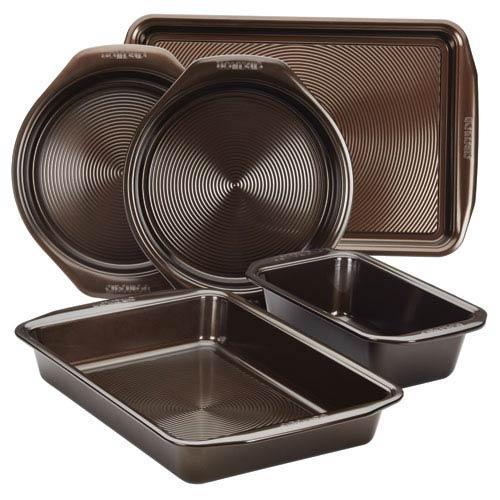 Symmetry Chocolate Nonstick Bakeware 5-Piece Bakeware Set