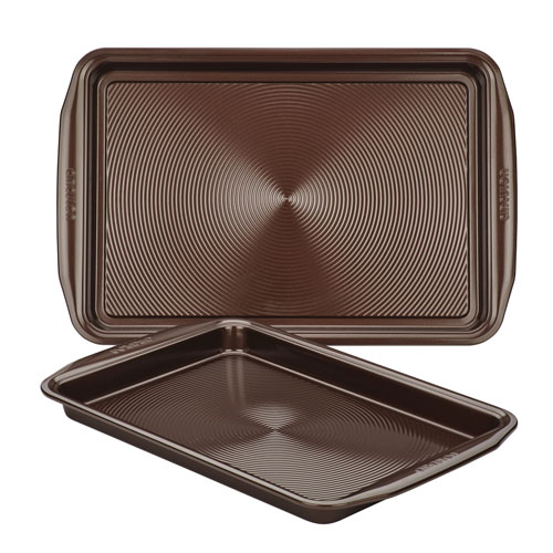 Nonstick Chocolate Brown Cookie Pan Set