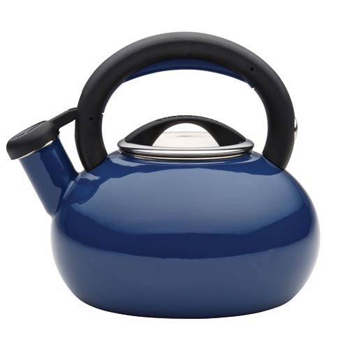 Navy Blue 1.5-Quart Sunrise Teakettle