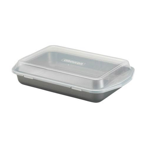 Gray Nonstick Bakeware 9-Inch x 13-Inch Cake Pan with Lid