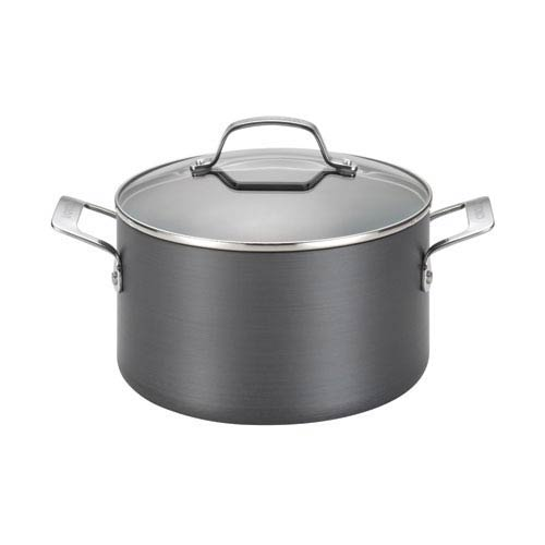 Genesis Black Hard-Anodized Nonstick 4.5-Quart Covered Dutch Oven