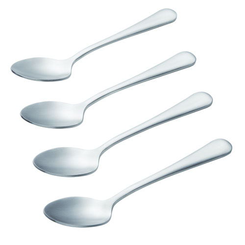Coffee Accessories, 4-Piece Stainless Steel Espresso and Demitasse Spoon Set