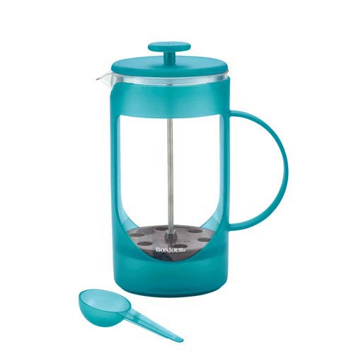 Unbreakable 33.8-Ounce Blue Plastic French Press