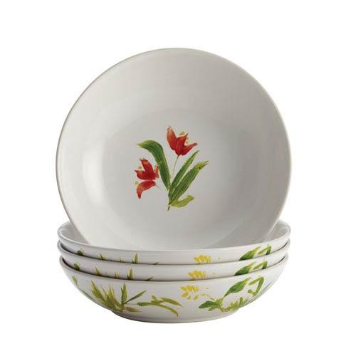 Bonjour Meadow Rooster Stoneware 4-Piece Fruit Bowl Set